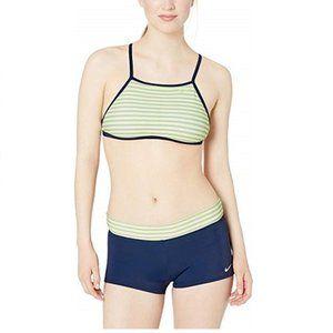 NIKE Women's Laser Stripe High Neck Bikini Set